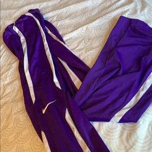 Purple Nike Sweatpants